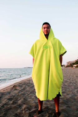 Nixie Lime Summer Poncho-Towel