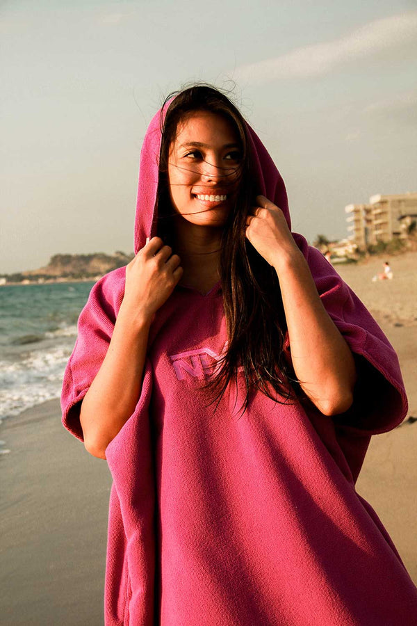 Nixie Purple Summer Poncho-Towel