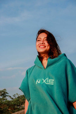 Nixie Teal Summer Poncho-Towel