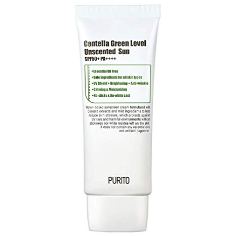 Purito Green Level Unscented Sun 60ml SPF50+ PA+++ - Glowfull Skincare Beauty