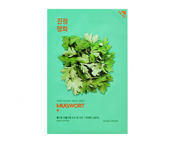 Holika Holika Pure Essence Mask - Mugwort - Glowfull Skincare Beauty