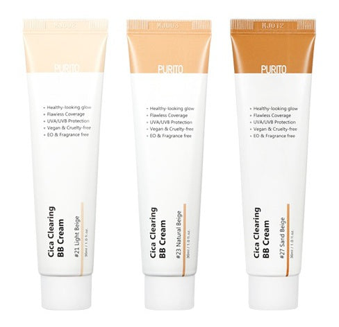 PURITO Cica Clearing BB Cream 30ml SPF38+ PA+++