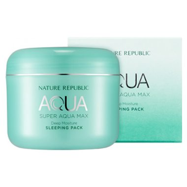 Nature Republic Super Aqua Max Deep Moisture Sleeping Pack 100ml - Glowfull Skincare Beauty
