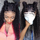 2019 latest design-African hair Front Lace braid Curly Hair Wig