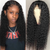 360 Lace Front Human Hair Wigs Pre PluckedBrazilian Deep Wave Lace Wigs For Women Pre Plucked With Baby Hair