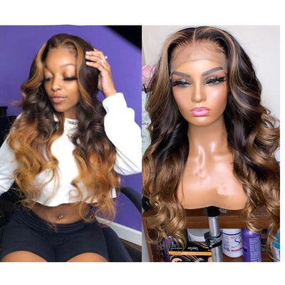 Malaysian Natural Wave Lace Wigs Middle Part Glueless Full Lace Human Hair Wigs