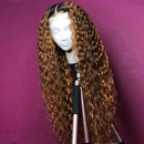 Brazilian 360 Lace Reddish  Hair Wig Curls Lady Wig