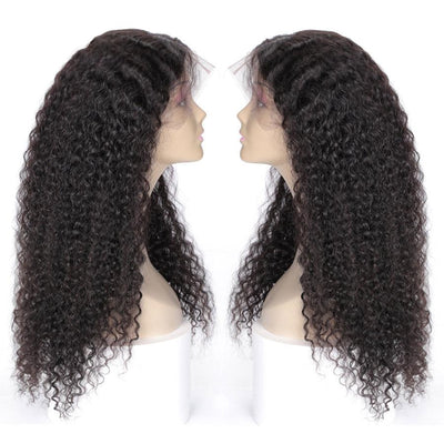 Curls Human Hair Wig Water Wave Wig 360 Lace Frontal Wig