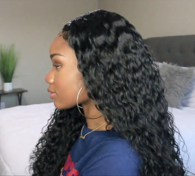2019 NEW Super Natural Lace Long Curly Wig