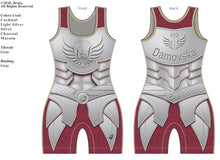 "Load image into Gallery viewer, ""Armor of Hope"" Ladies Singlet (Cardinal) G1 LJ Wrestling Inc"