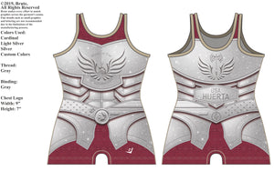 "*NEW* ""Armor of Hope"" Ladies Singlet (Cardinal Sparkle) G2 LJ Wrestling Inc"