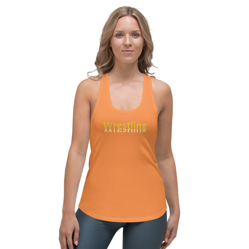 LJ Wrestling Tank Top-Orange