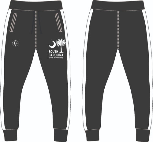 SC Girl's Wrestling Jogger-White