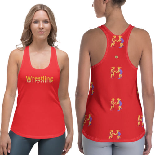 LJ Wrestling Tank Top-Red