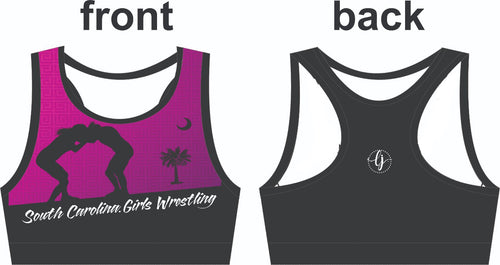 SC Girl's Wrestling-High Cut Sports Bra