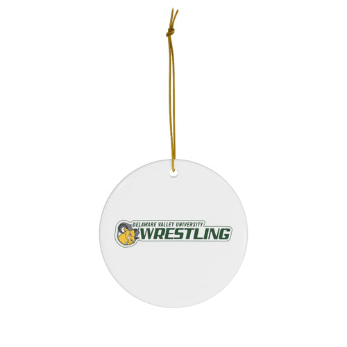 DVU Wrestling-Round Ceramic Ornaments