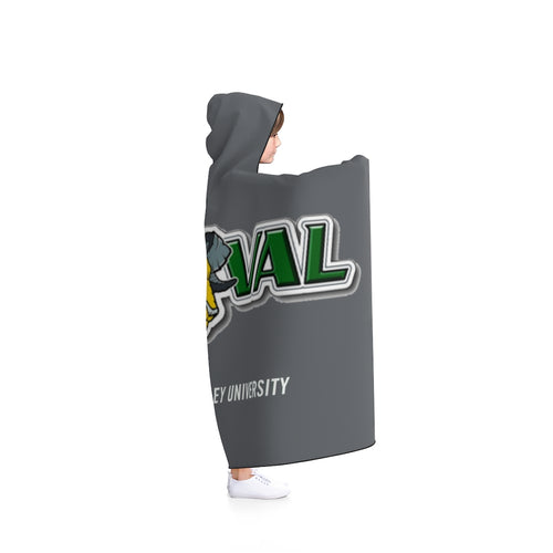 DVU Aggie Hooded Blanket with 2 size options (Color #53565A Grey)