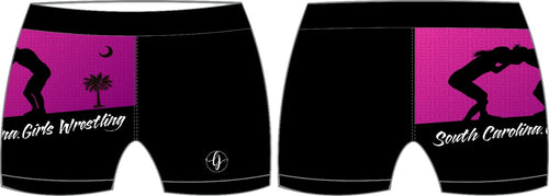 SC Girl's Wrestling Compression Shorts