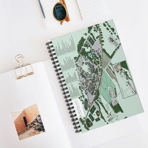 DVU Campus Map Spiral Notebook - Ruled Line