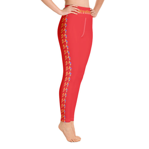LJ Wrestling Leggings-Red