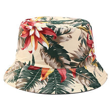 Load image into Gallery viewer, Flower Print Bucket Hat Reversible Fisherman Hat Women Men Outdoor Travel Sun Hat Panama Bucket Cap Hats For Girl