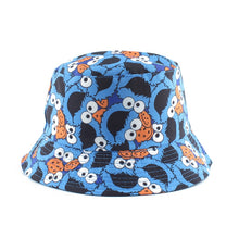 Load image into Gallery viewer, Summer Fisherman Hat Reversible Cartoon Bucket Hats For Women Men Street Hip Hop Bucket Cap Vintage Printed Fishing Hat