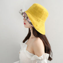 Load image into Gallery viewer, Wide Brim Women Sun Hat Cap Casual Large Brim Reversible Bucket Hat Sports Hiking Fishing Female Cap Summer Beach Panama Bob