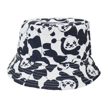 Load image into Gallery viewer, Summer Cotton Bucket Hat Two Side Letter Print Men Women Outdoor Hip Hop Foldable Bob Fisherman Hat Casual Travel Gorros Panama