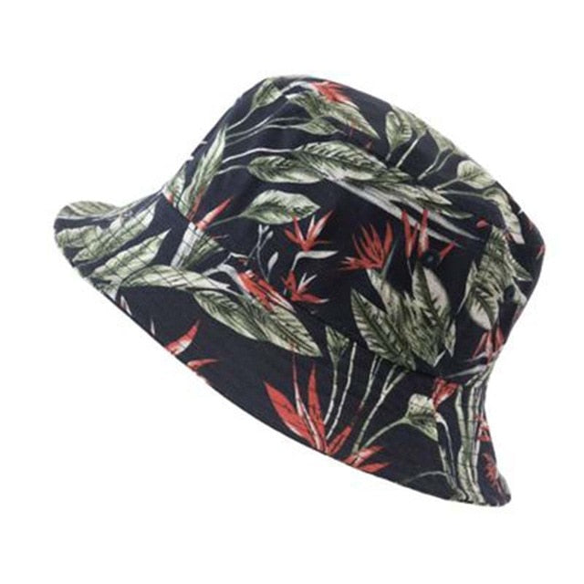 2020 new flower fisherman hat female printed sun hat sunscreen version men and women hat tide hat S70