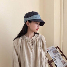 Load image into Gallery viewer, [EAM] Grey Brief Split Joint Women Fishermen Hat New Round Dome Temperament Fashion Tide All-match Spring Autumn 2020 1U439