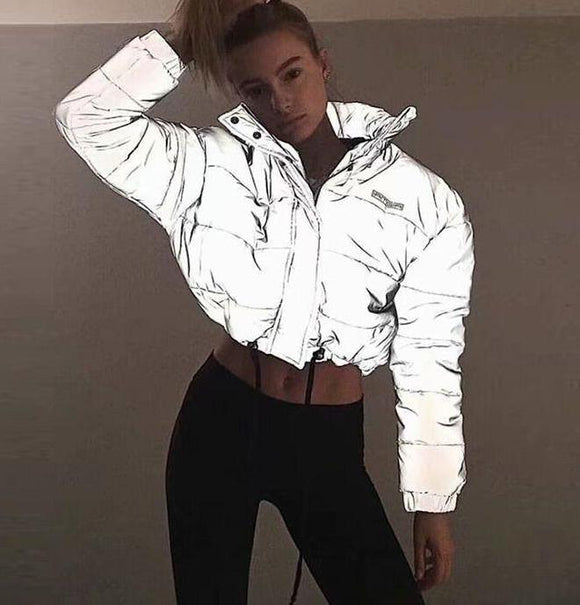 Reflective Short Top Padded Jacket