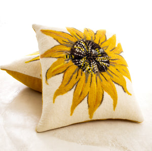 Sunflower & Bee Cushion