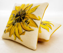 Load image into Gallery viewer, Sunflower & Bee Cushion