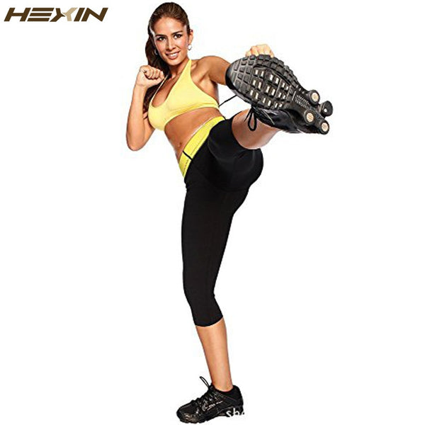 76ba523a2b ... HEXIN Womens Slimming Pants Hot Thermo Neoprene Sweat Sauna Body  Shapers Fitness Stretch Control Panties Burne ...