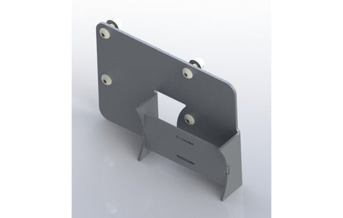 Jeep TJ Charcoal Canister Relocation Bracket Textured Black Powdercoat 1997 Wrangler TJ Nemesis Industries