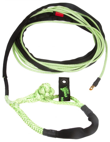 Winch Rope Jeep/Truck 3/8 Inch x 80 Foot W/ Soft Shackle End Green VooDoo Offroad
