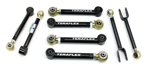 Jeep TJ/LJ 8-Arm Adjustable Flexarm Kit 0-4 Inch Lift 97-06 Wrangler TJ/LJ TeraFlex