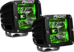 LED Pod with Green Backlight Radiance RIGID Industries