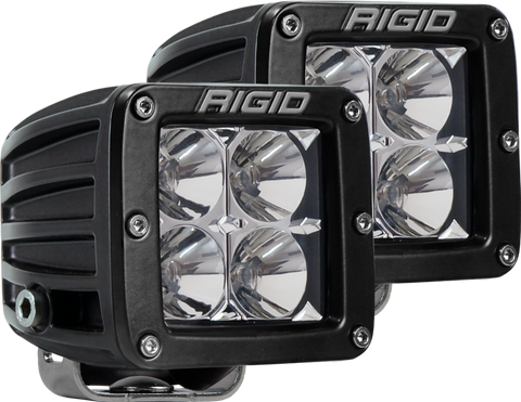 Flood Surface Mount Black Pair D-Series Pro RIGID Industries