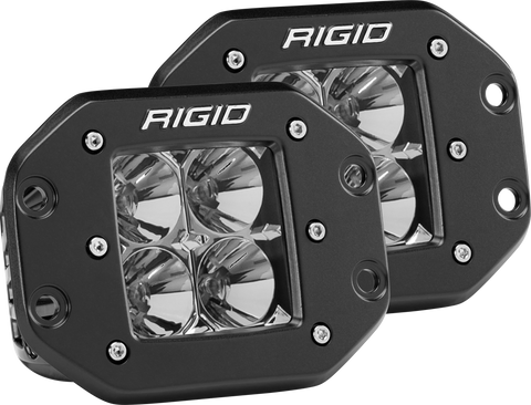 Flood Flush Mount Black Pair D-Series Pro RIGID Industries