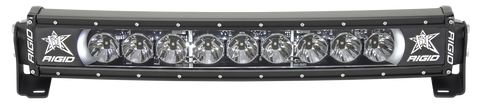 20 Inch LED Light Bar Single Row Curved White Backlight Radiance Plus RIGID Industries