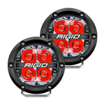 360-Series 4 Inch Led Off-Road Spot Beam Red Backlight Pair RIGID Industries