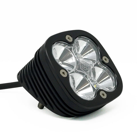 Flush Mount LED Light Pod Angled Black Clear Lens Work/Scene Pattern Squadron Pro Baja Designs