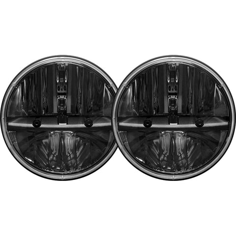 7 Inch Round Headlight With PWM Adaptor Pair RIGID Industries