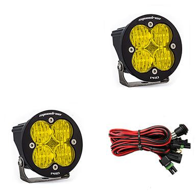 LED Light Pods Amber Lens Wide Cornering Pair Squadron R Pro Baja Designs