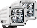 Hybrid Flood Surface Mount White Housing Pair D-Series Pro RIGID Industries