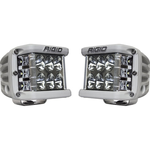 Driving Surface Mount White Housing Pair D-SS Pro RIGID Industries