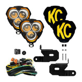 KC HiLites FLEX ERA 3 - 2 Light System - Pillar Mount -40W Combo Beam- for Jeep JL/JT
