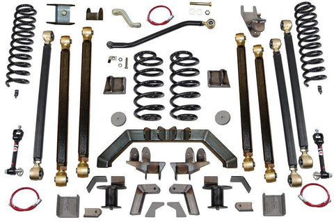 Jeep Wrangler 4.0 Inch Pro Series 3 Link Long Arm Lift Kit W/Rear 5 Inch Stretch 97-06 Wrangler TJ Clayton Off Road