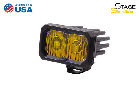 Stage Series 2 Inch LED Pod, Sport Yellow Driving Standard ABL Each